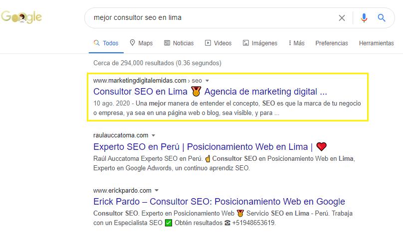 Mejor consultor seo en Lima