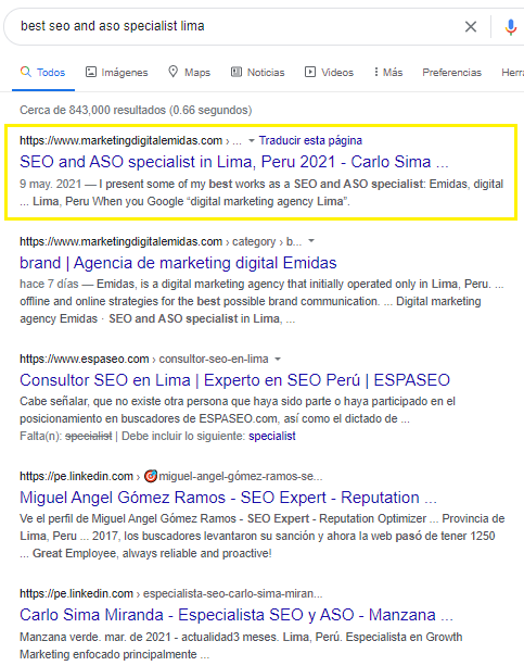 best seo and aso specialist lima