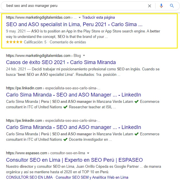 best seo and aso manager peru