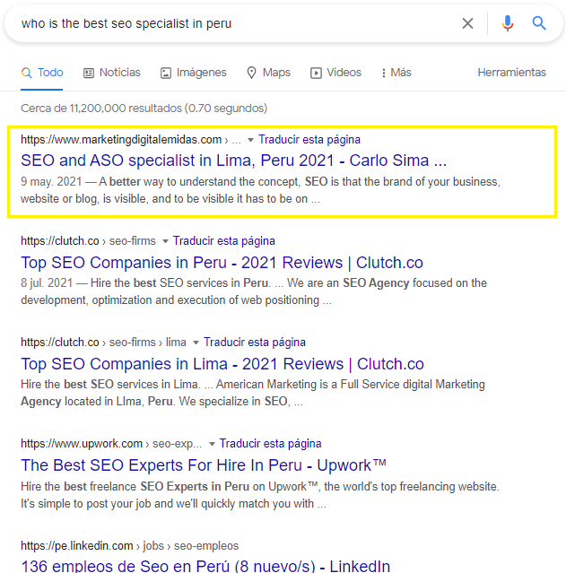 who is the best seo specialist in peru